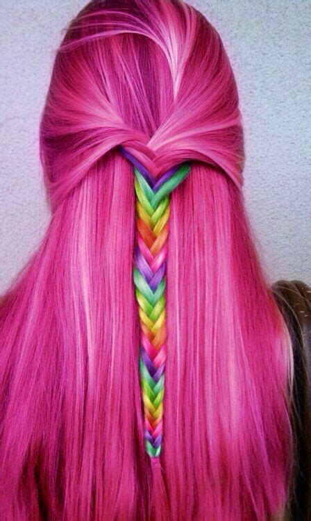Dyed Hairstyles by 30 Rainbow Colored Hairstyles To Try Pretty Designs