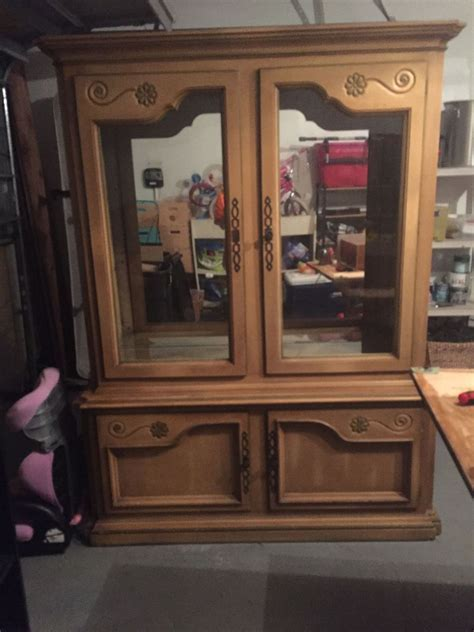 hometalk dining room china cabinet makeover