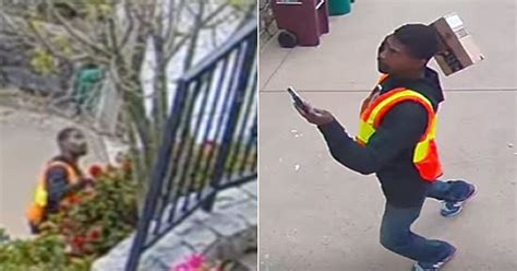 amazon delivery driver caught  camera throwing package