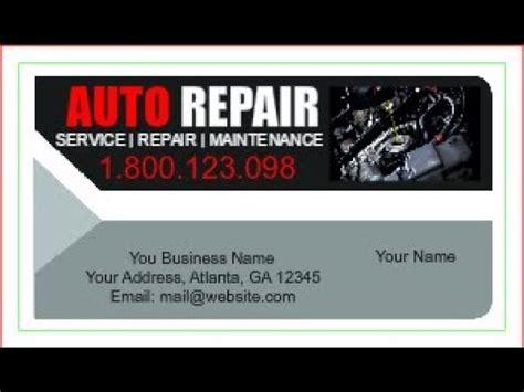 automotive repair auto mechanic business cards hd football