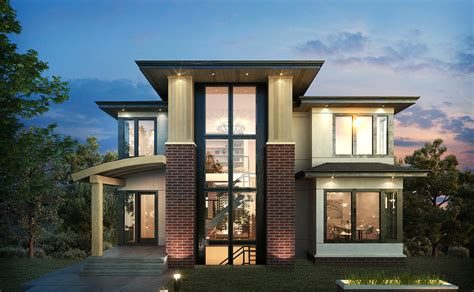 Home Design Level 106 : Exclusive 3 Level Modern Home Plan