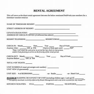 8 rental contract templates sample templates With renting contract template