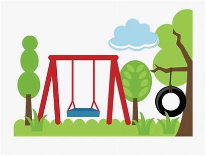 Park Clipart Playground Children Outdoors Cartoon Picnic