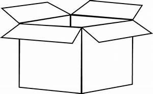 Box Clipart Black And White #19096
