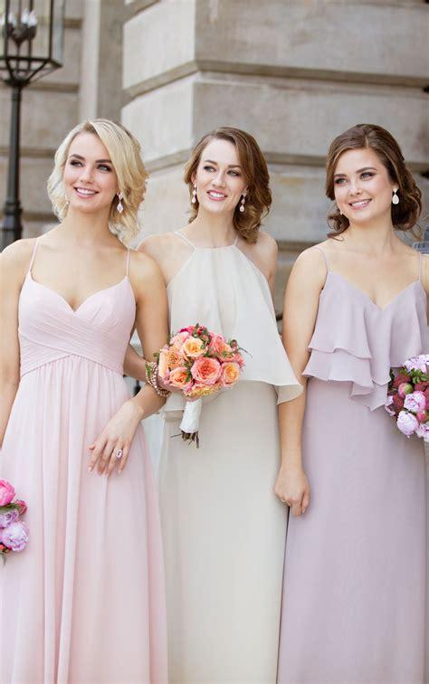boho chiffon bridesmaid dress sorella vita bridesmaid