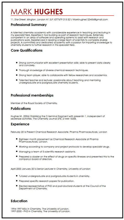 Publications On Resume by Cv With Publications Myperfectcv