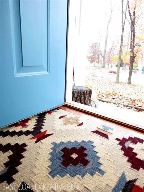 Interior Door Rugs by Rugs Awesome Entryway Design Ideas With Blue Door And