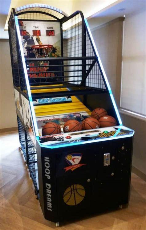 hoop dreams basketball arcade machine  play coin
