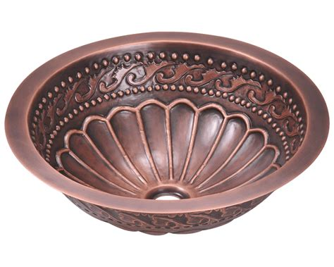 Single Bowl Copper Bathroom Sink