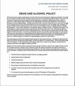 drug and alcohol policy template free layout format With test policy template