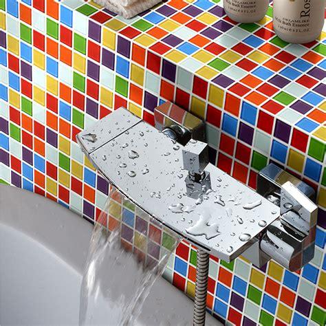rainbow color 25x25 mosaic tiles home design