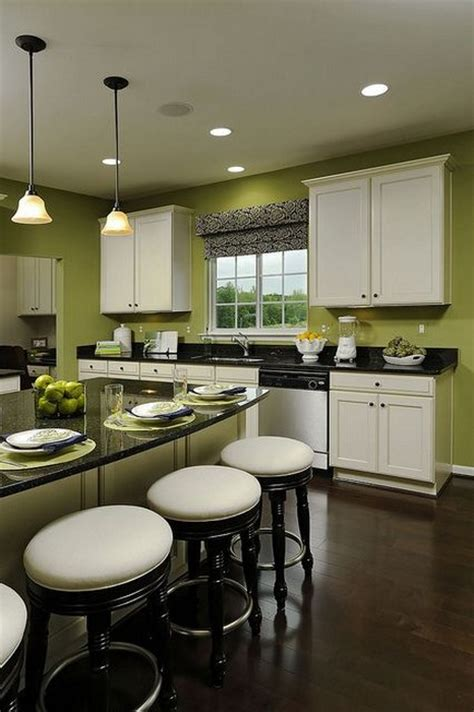 white kitchen cabinets with green walls use pantone s 2017 color of the year in your kitchen 2079