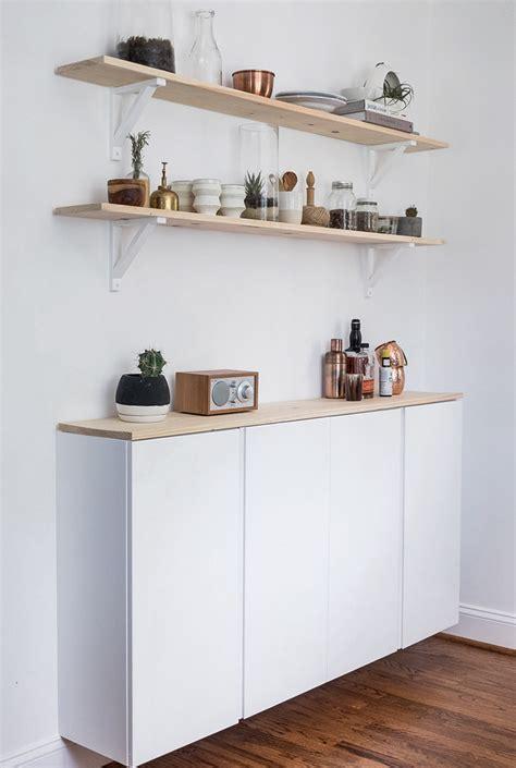 bureau peu profond ivar hack one cabinet five looks stylizimo