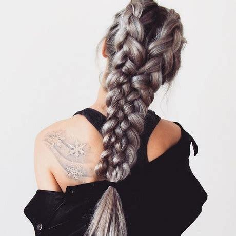hair braids  long thick hair