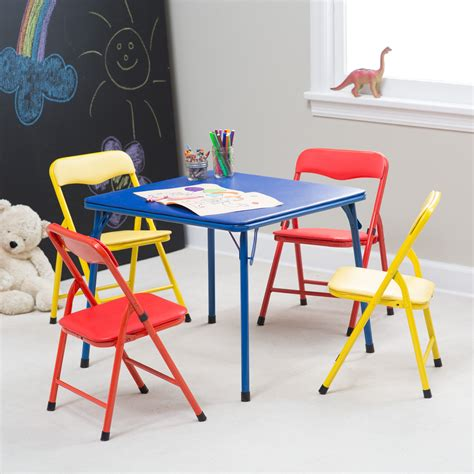 Showtime Childrens Folding Table And Chair Set  Multi. Amazon Table. Small Gaming Desk. Bt Help Desk Number. Table Top Cover. Best Under Desk Exercise Equipment. White Acrylic Desk. Ncr Help Desk. Ikea Galant Desk Top