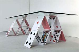 Playing Card Furniture : House of Cards Table