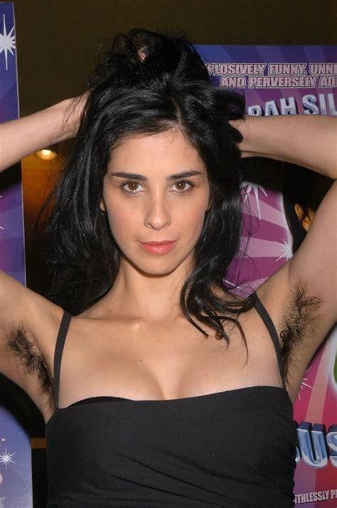 Sarah Silverman Images Sarah Silverman With Hairy Armpits Wallpaper And Background Photos