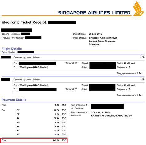 experience booking  award ticket  singapore