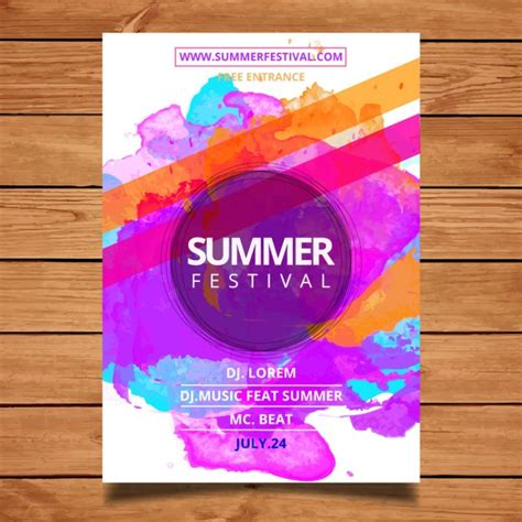 free poster design templates summer festival poster template vector free