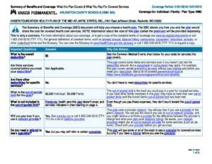 kaiser permanente  summary  benefits  coverage