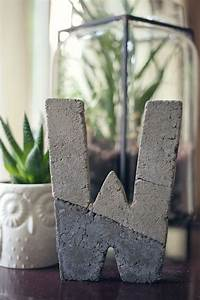 diy concrete letter wit whistle With press in letters for concrete