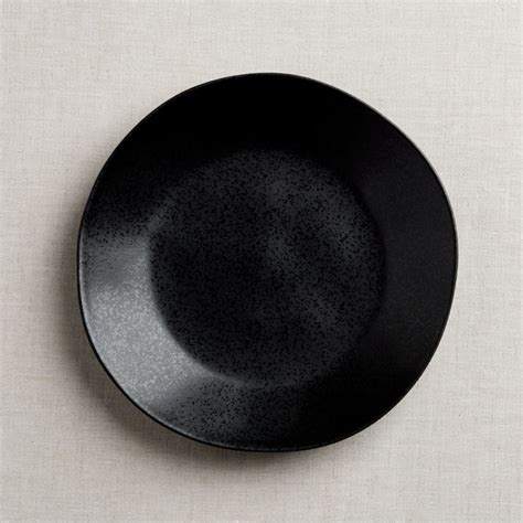 marin matte black dinner plate reviews crate  barrel