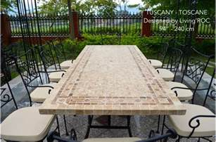 mexican tile bathroom ideas 78 quot outdoor patio dining table italian mosaic marble tuscany