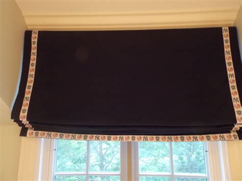 custom made l shades nyc childsafe custom relaxed roman shade blue new york yankees