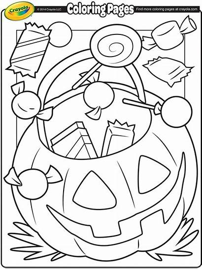 Crayola Coloring Halloween Treats Pages Printable Sheets