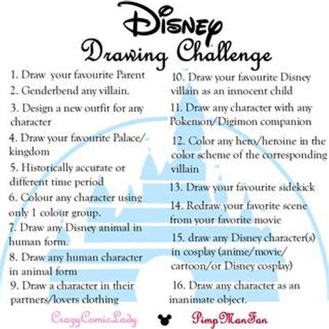 disney drawing challenge  art wyzwania