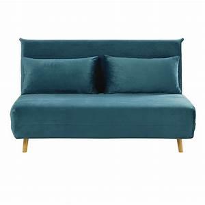 Sofas Maison Du Monde : petrol blue double velvet day bed sofa nio maisons du monde ~ Watch28wear.com Haus und Dekorationen