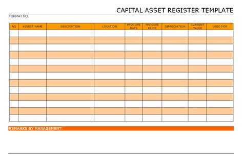 things that need fixed template 10 best images of asset register format asset register