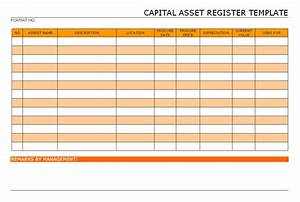 Capital asset register template for Document register template free