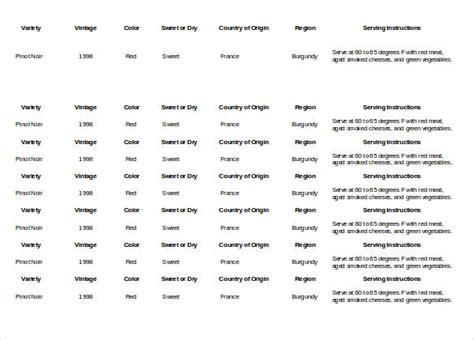liquor inventory templates  sample