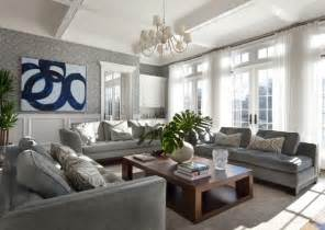 Navy And Blue Striped Curtains by 21 Gray Living Room Design Ideas