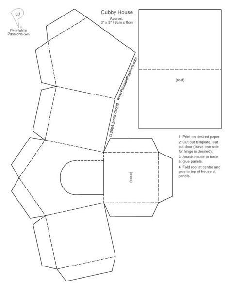 Putz house pattern simple Christmas | TEMPLATES AND
