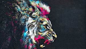 1920x1080, Abstract, Artistic, Colorful, Lion, Laptop, Full, Hd