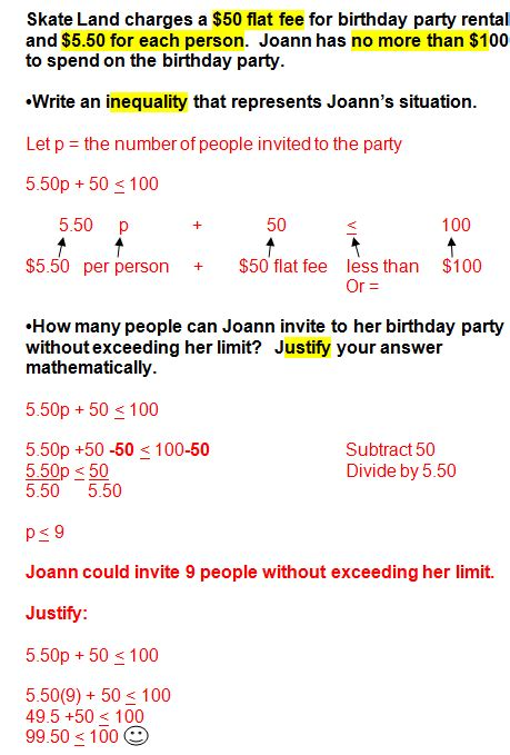 Solving Linear Inequalities Word Problems Examples  Systems Of Linear Equations And Word