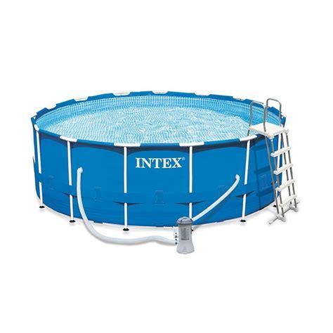 piscine intex 4 57 piscine tubulaire intex metal frame 4 57 x 1 22 m