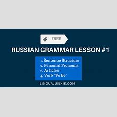 Russian Language Grammar & Vocabulary Pdfs Free Download