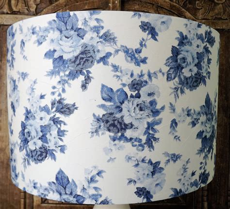 blue and white l shade blue and white rose floral lshade shabby chic l shade