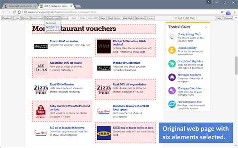 print edit we chrome web store