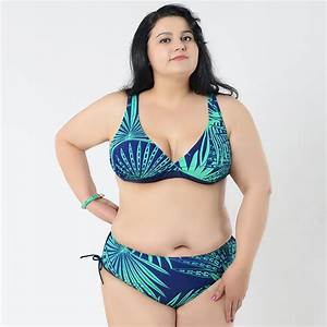 2015 fat Bikini Sets print Halter bikini Swimsuit Set ...