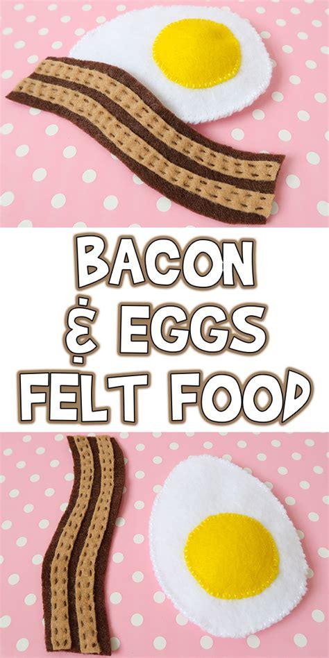 bacon eggs felt food tutorial pattern woo jr