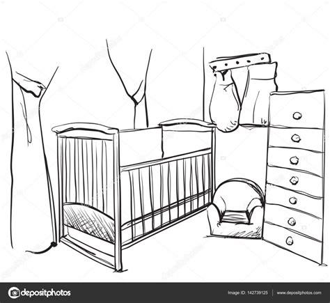 croquis de chambre chambre enfants dessinés croquis de meubles lit bébé