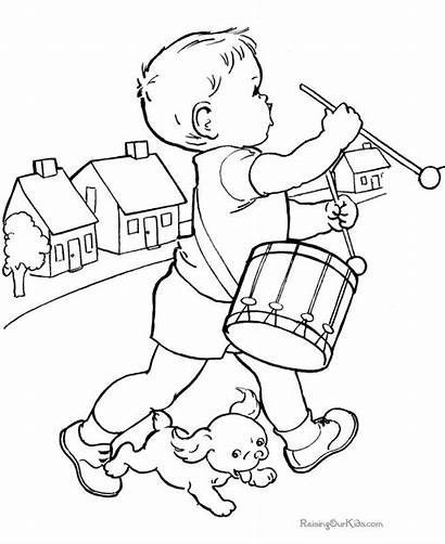 Coloring Pages Kid Books Printable Boy Drums