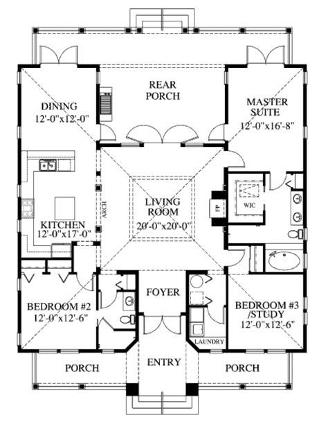 Beach Style House Plan 3 Beds 2 Baths 1867 Sq/Ft Plan