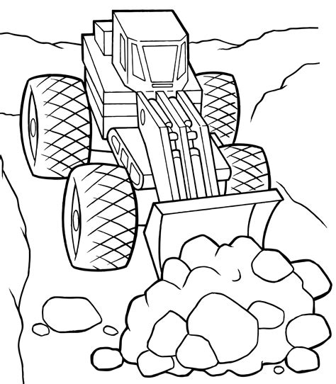 You can print the coloring pages, or color them online with color gradients and patterns. Bulldozer coloring pages to download and print for free