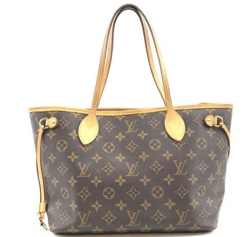 louis vuitton neverfull  pm tote everyday work brown monogram canvas shoulder bag tradesy