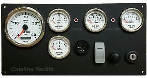 Catalina Sailboat Engine Instrument Panel  U2013 Ac Dc Marine Inc